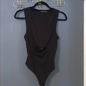 NWT Nasty Gal Cut Out Ribbed Bodysuit